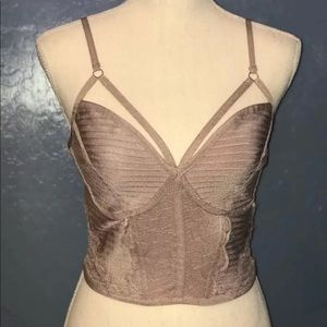Tops - Bandage Crop Top With Lace Detail New!